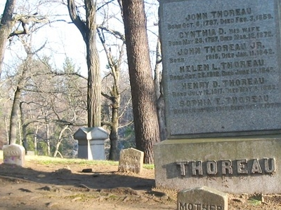 Thoreau  Gravesite