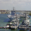 USS Enterprise Prepares To Moor At Port Everglades