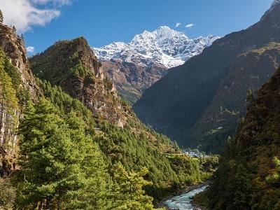 Valley @ Phakding In Nepal Himalayas