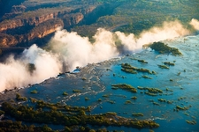 Victoria Falls - Aerial View - Zambia-Zimbabwe