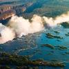 Victoria Falls From Zambia-Zimbabwe Border