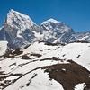 View Cholatse & Taboche Peaks - Nepal Himalayas