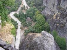 View Down Holy Trinity Monastery - Meteora