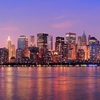 View Downtown Across Hudson River - New York City