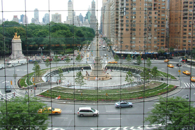 View Of Columbus Circle From Inside The Time Warner Center