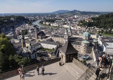 View Of Salzburg From The Castl