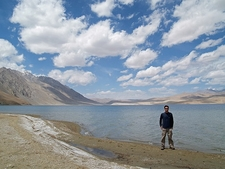Visitor At Tso Moriri Bank In Ladakh J&K
