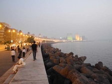 Walking Marine Drive Mumbai