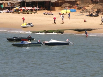 Jet Skis At Sinquerim Beach