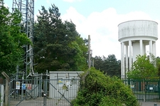 Water Tower And Telecoms Mast At Wokefield Common
