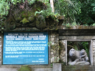 Welcome Sign At Monkey Forest