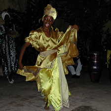 Yellow Dancer In Cuba
