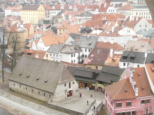 Cesky Krumlov Old Town and Castle Courtyards Photos