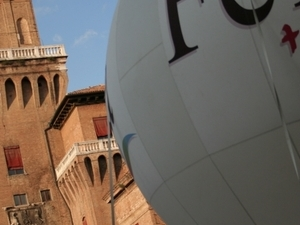 Ferrara in a glimpse - Portrait of a Renaissance city with a medieval heart and cycling people Photos