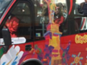 Livorno tourist bus. Photos