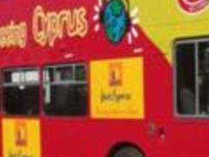 Paphos tourist bus. Photos