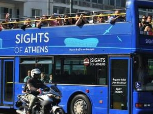 Sights of Athens (Athens Sightseeing Hop on-hop off Blue Buses) Photos