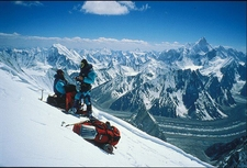 Stunninf View Of Concordia And Baltoro Glacier As Seen From 7000m On The Gasheberum Peak Pakistan