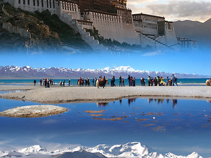Tibet, The Nam Tso Lake and The Mount Everest Photos