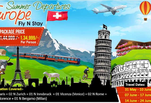 Summer Departures Offer for Europe Photos
