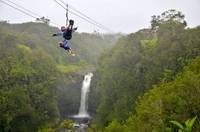 Big Island Zipline Tour and Hawaii Volcanoes National Park from Hilo or Kona Photos