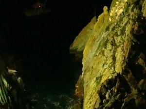 Acapulco Cliff Divers at Night Photos