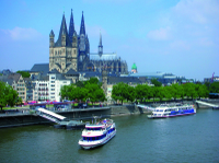 Cologne Combo: Sightseeing Cruise and Meal at Hard Rock Cafe Cologne