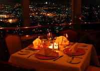 Dinner at the Revolving Bellini Restaurant in Mexico City Photos