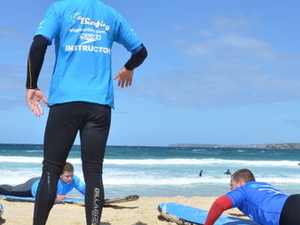 Surfing Lessons on Sydney's Bondi Beach Photos