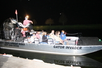 Florida Airboat Adventure at Night Photos