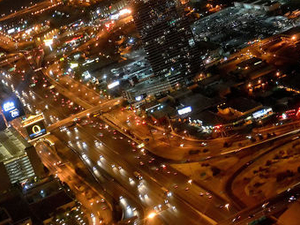 Las Vegas Strip Night Flight by Helicopter with Transport Photos