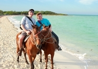 Horseback Riding in St Lucia to Cas en Bas Beach Photos