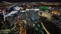 Las Vegas Night Flight Helicopter Wedding Ceremony Photos