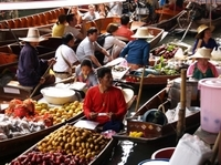 Private Tour: Floating Markets and Rose Garden Cultural Center Day Trip from Bangkok Photos