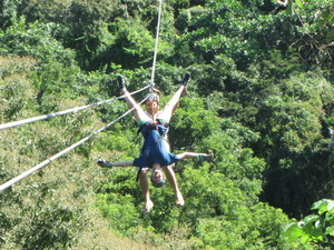 Roatan Shore Excursion: Zip 'n' Dip Canopy Tour Photos