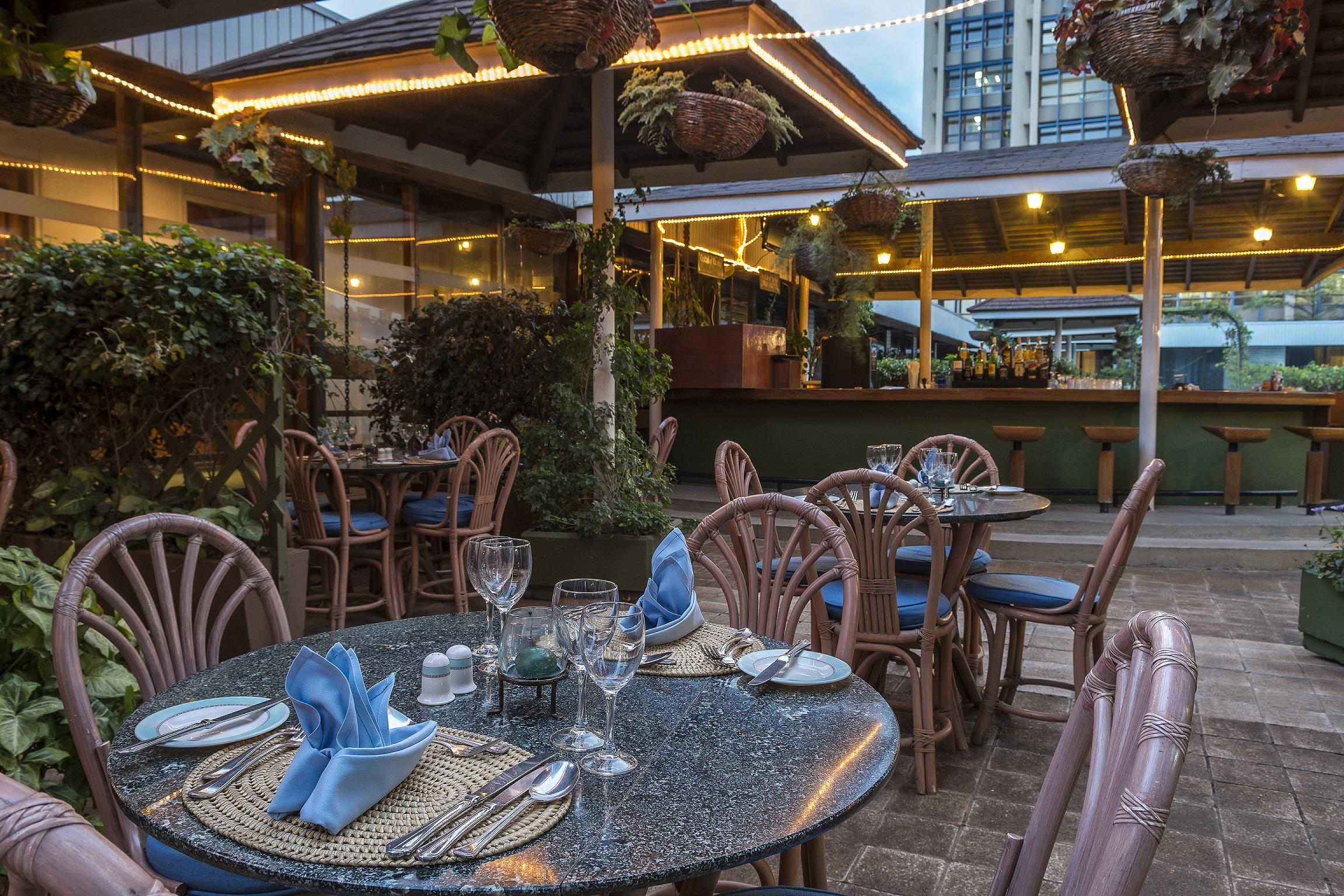 Hilton nairobi nairobi kenya tourist information for Pool garden restaurant nairobi